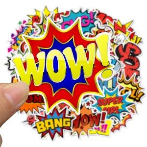 Image 4 - 어린이위한 50 pcs 팝 스타일 buzzword 스티커 장난감 diy 스크랩북 노트북 가방 자전거 스티커 가제트 선물에 크리 에이 티브 텍스트