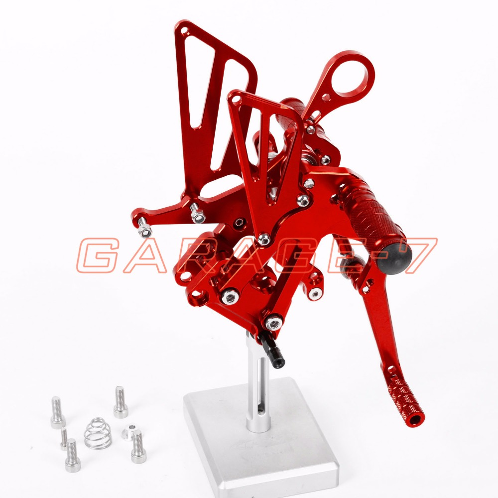 Hot Sale Motorcycle Red CNC Rearsets Foot Pegs Rear Set For BMW  S1000RR 2010-2011 motorcycle foot pegs