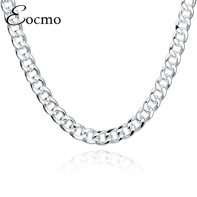 20/24inches*10MM Big Chunky HipHop Silver Chain For Men Jewelry Wholesale Silver Plated Thick Heavy Chaine Necklace Bijoux Homme