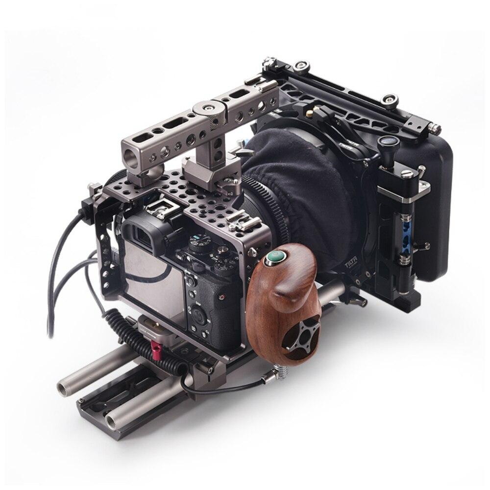 Tilta A7 A7S A7S2 A7R2 Kit de plate-forme Cage plaque de base manche en bois suivre focus 4*4 boîte mate légère pour Sony A7 sereis caméra