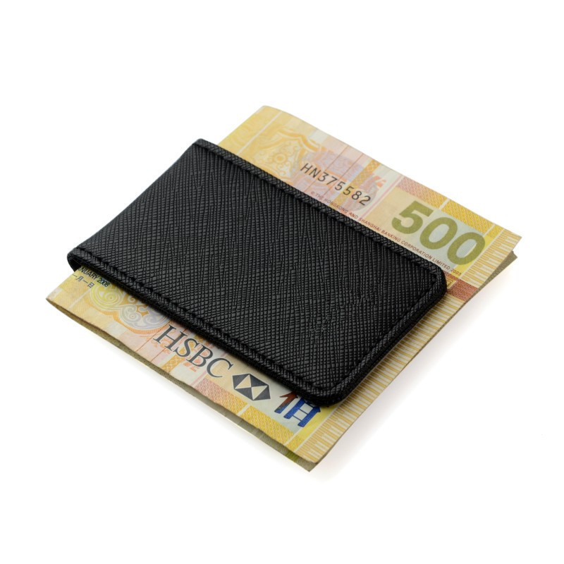 Image 4 - Friendship Gift Brand Genuine Leather Money Clip Purse Men Strong Magnetic High quality Black Clip for Money holderwallet diamondwallet case for iphone 3gsclip on shoe accessories -