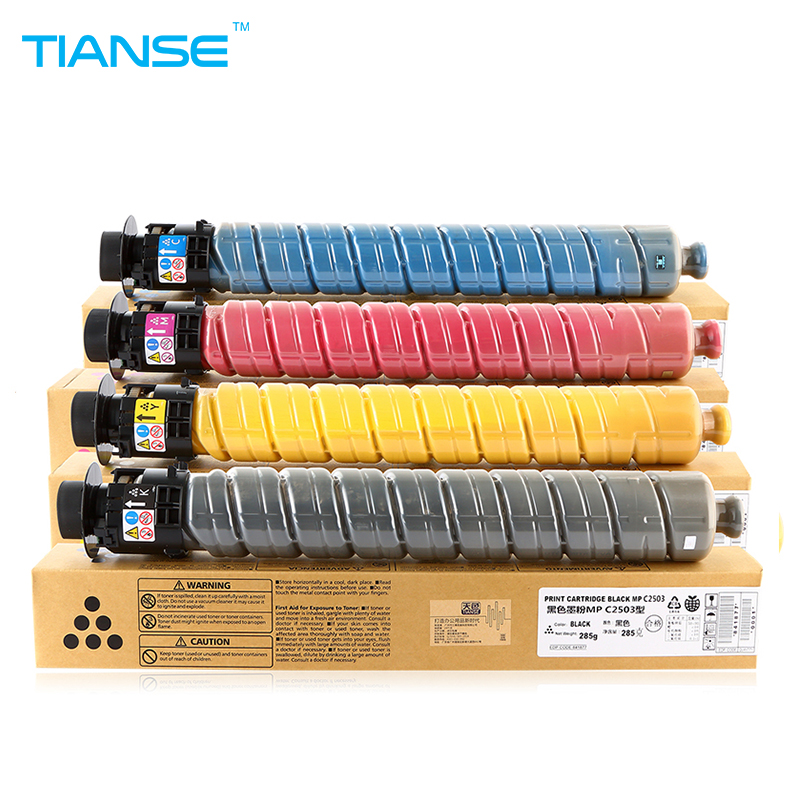 TIANSE 4PCS MPC2003 MPC2503 MPC2011 copier toner cartridge for RICOH Aficio MP C2003 MP C2503 2503 C2011 C2503c C2003c MPC2503c