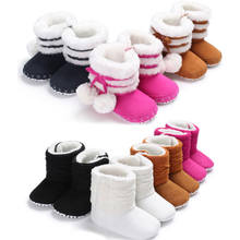 New Winter Thick Warm Boot Baby Girl Boy Plush Snow Boot Winter Booties Infant Toddler Newborn Chidlren Crib Shoes 0-18M(China)