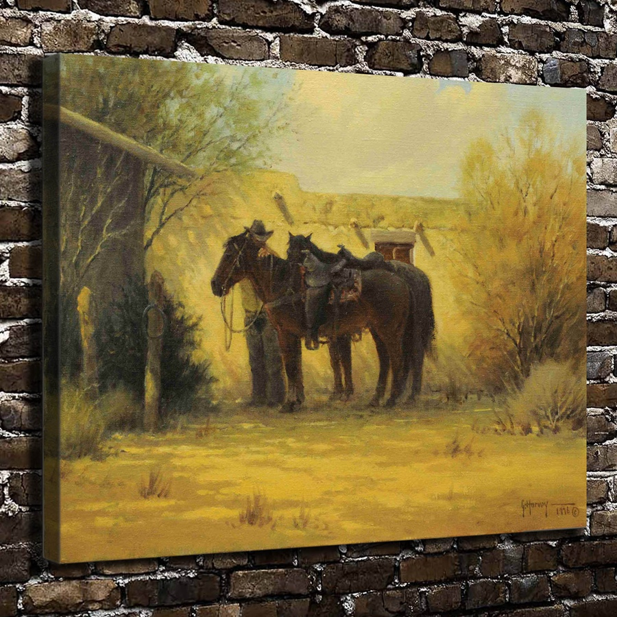 A2604 Gerald Harvey Jones Animals Horse Landscape.HD Canvas Print ...