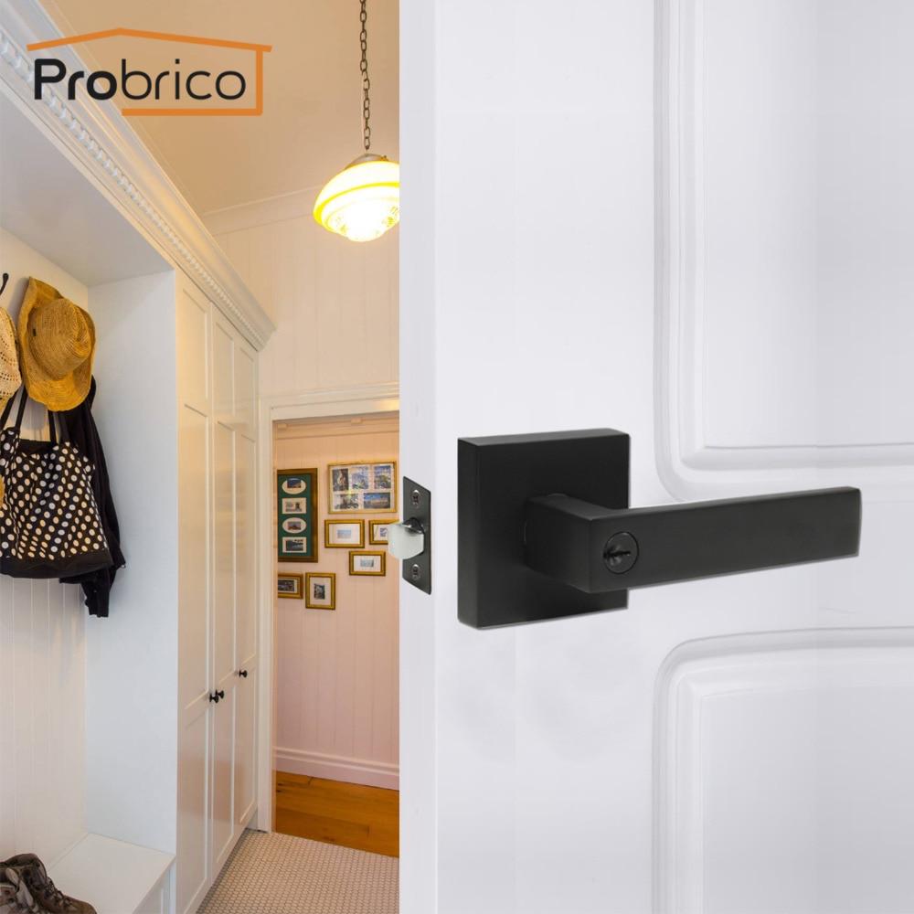 Probrico Black 3 Keys Stainless Steel Entrance Interior Door Lock