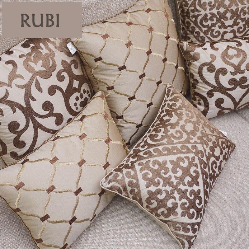 Almofadas de bordado europeu luxo decorativo lance almofadas sem sofá interior decoração para casa funda cojines decorativos z5