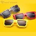 IVSTA Cuadrado gafas de Sol de Los Hombres Vidrios Del Partido Hombre Hipster friki Steampunk PC Gran Tamaño Del Marco de moda único Irregular 1005