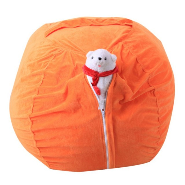 large bean bag chair cover kids stuffed storage bags toy organizer