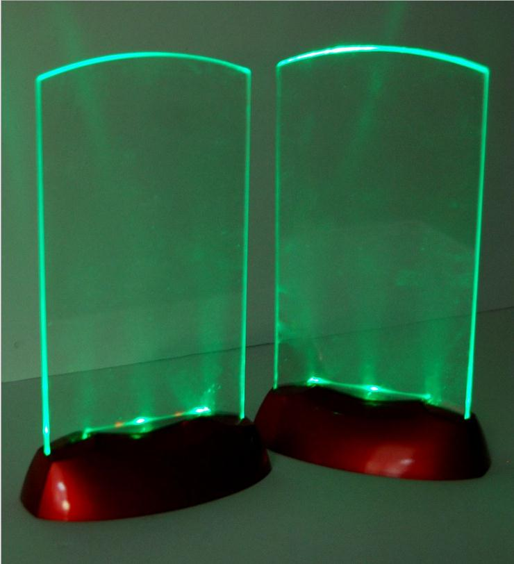 5pcs Acrylic Flash LED Light Up Table Menu Acrylic Illuminated Restaurant  Card Display Holder Stand High Quality In Other Bar Accessories From Home U0026  Garden ...