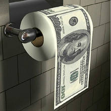 Novelty Funny One Hundred Dollar Bill Soft Printed Home Roll Toilet Paper US Dollar Tissue Donald Trump Toilet Money roll Paper(China)
