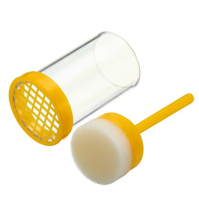 1 pz di Plastica Queen Ape Marcatura Gabbia Marcatore Bottiglia w/Pistone Apicol