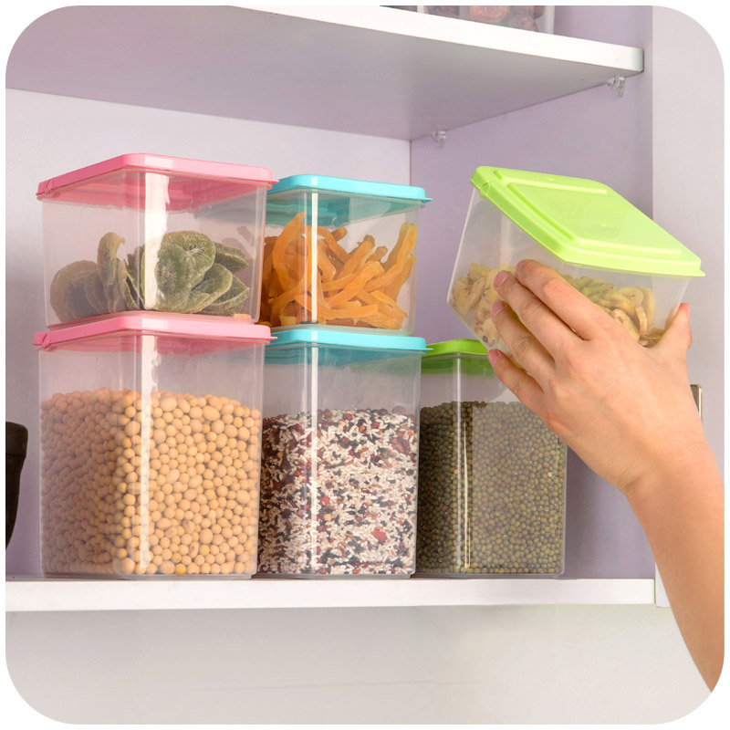 Free shipping Home food storage box storage container plastic pot