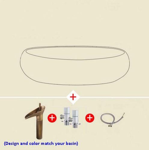 Retro stil porzellan waschbecken hand maded keramik waschbecken