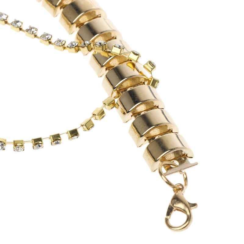 Cao Gót Giày Chain Vàng Trang Trí Phụ Nữ Rhinestone Trang Trí cho Giày Đa Lớp Mặt Dây Chuyền Chain Wedding Bridal Phụ Kiện