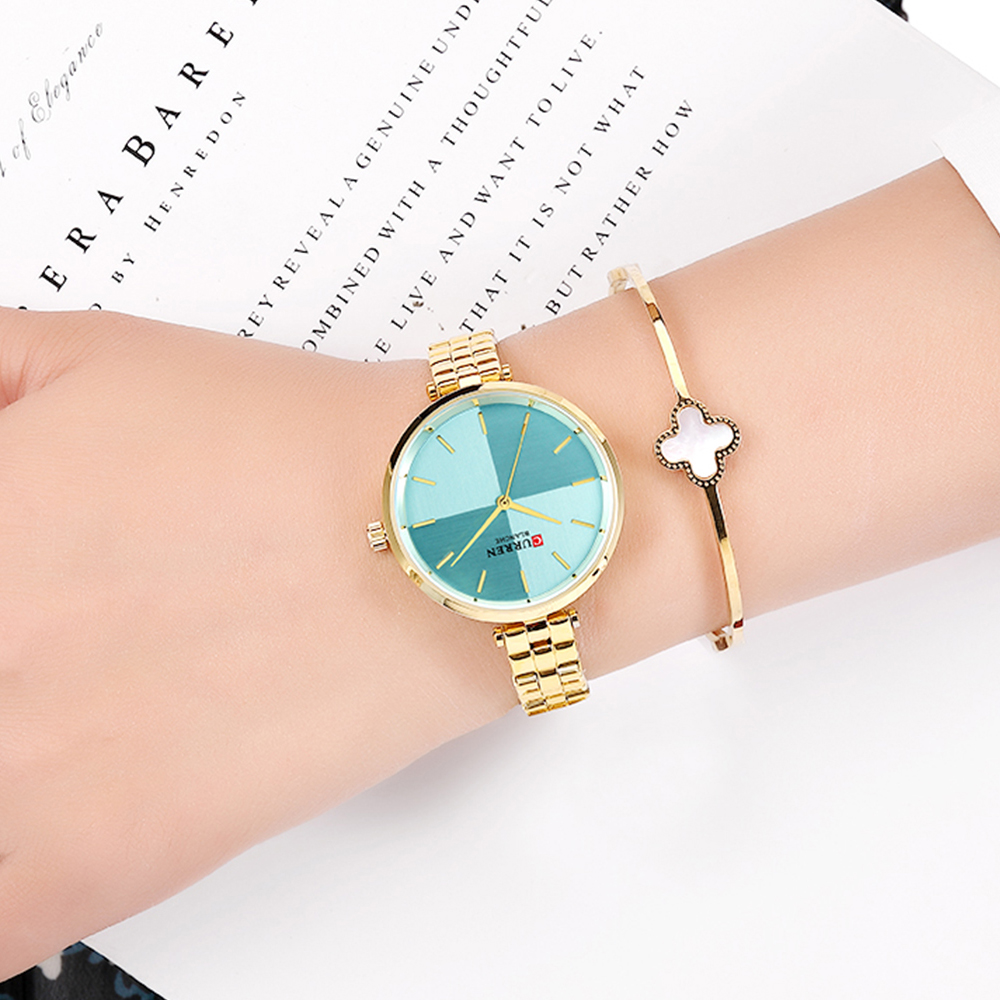 CURREN Women Watches Top Brand Luxury Stainless Steel Strap Watch Ladies Analog Quartz Wristwatch Simple Style Clock reloj mujer