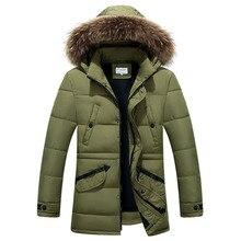 Teplá zimní prošívaná bunda delšího provedení pro muže