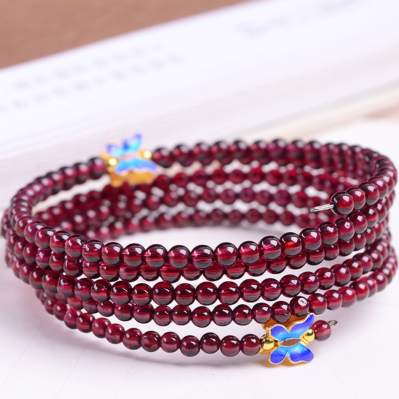 Handmade Authentic Garnet 6 Cricles Bracelets racyme real silicone sex dolls 165cm adult robot japanese anime full love doll realistic toys for men big breast sexy vagina