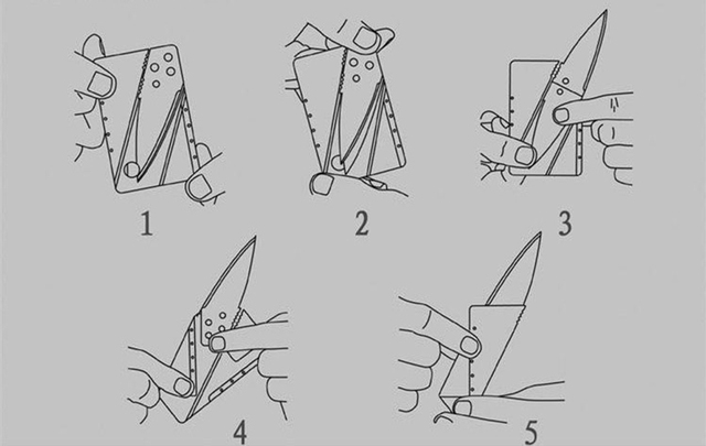 Credit Card Knife/Folding Knife