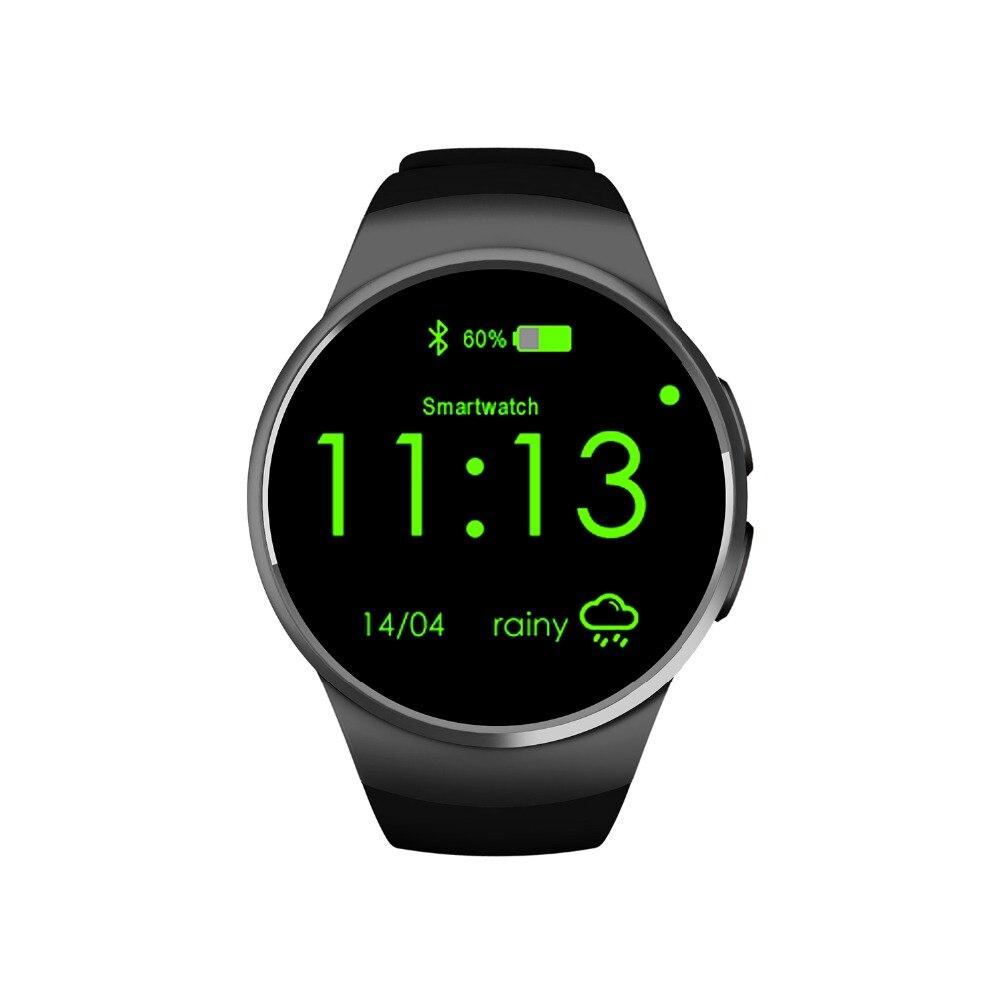 Smartch KW18 Smartwatch NFC moniteur de fréquence cardiaque montre intelligente pour Apple Samsung Android podomètre santé complet rond MTK2502C