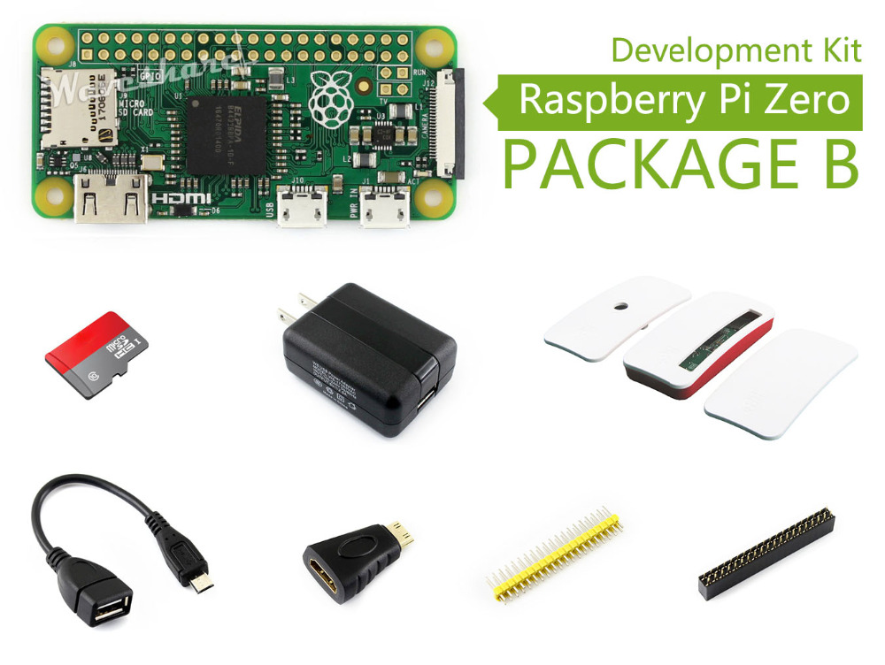 Raspberry Pi Zero Package B Basic Development Kit Micro SD Card, Power Adapter, Official Case, and Basic Components data and identity protection ct30 hwp117685g gemalto card reader original france brand usb card reader in stock