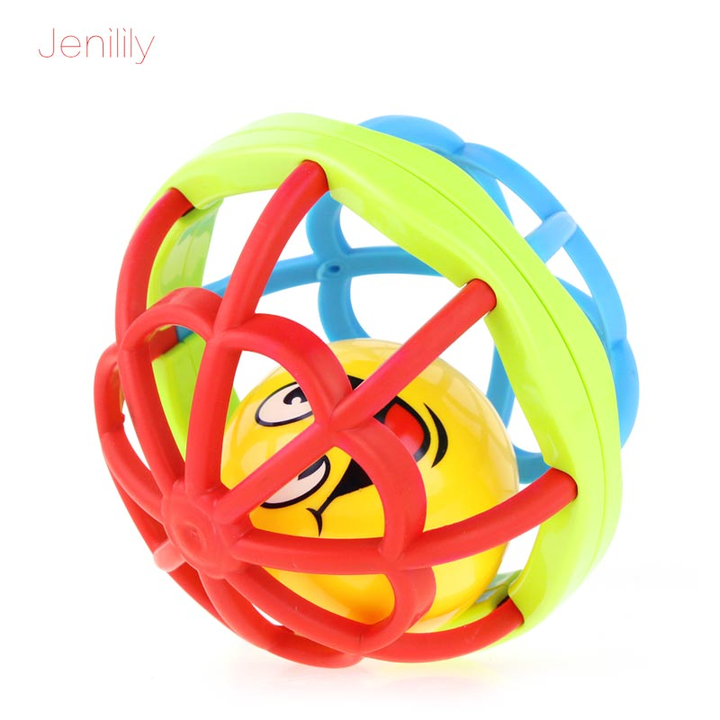 Jenilily Baby Rattles Ball Mobiles Kids Toys Educational Intelligence Hand Bell Soft Rubber Ball Ring Baby Toys for Children