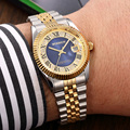 WOONUN Men's Watch Top Brand Luxury Fashion Steel Band Diamond Quartz Watches For Men Business Men Gold Watch relogio masculino