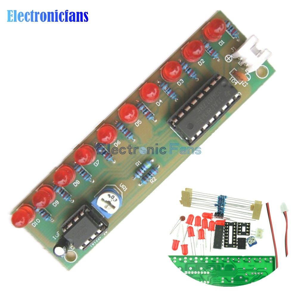 Electronic Components & Supplies Ne555 Cd4017 Running Led Flow Light Electronic Production Suite Control Board Diy Kit Module Capacitor Oscillator Clock Siganal Attractive Designs; Integrated Circuits