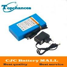 Haute Qualité Super Rechargeable Portable Au Lithium-ion Batterie DC 12 V 9800 mAh DC1298A Avec Plug