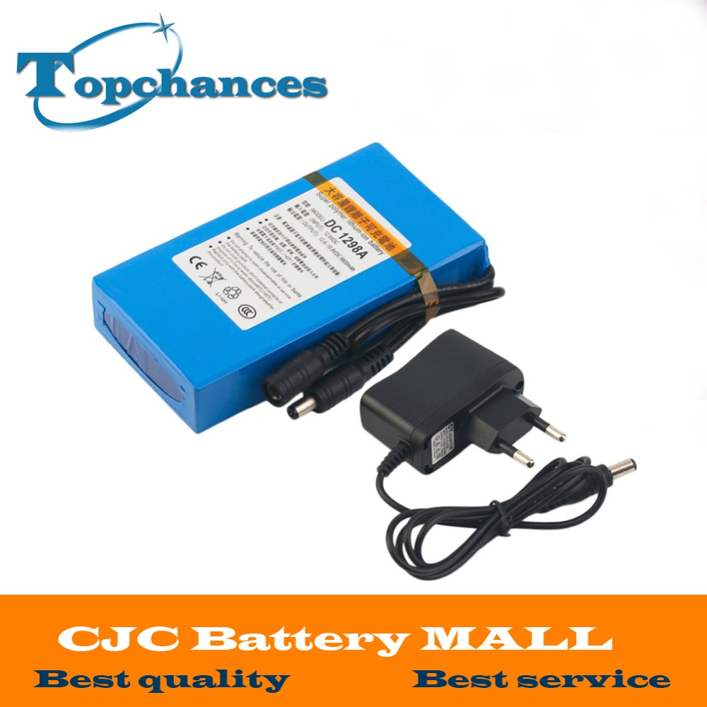 High Quality Super Rechargeable Portable Lithium-ion Battery DC 12V 9800mAh DC1298A With Plug