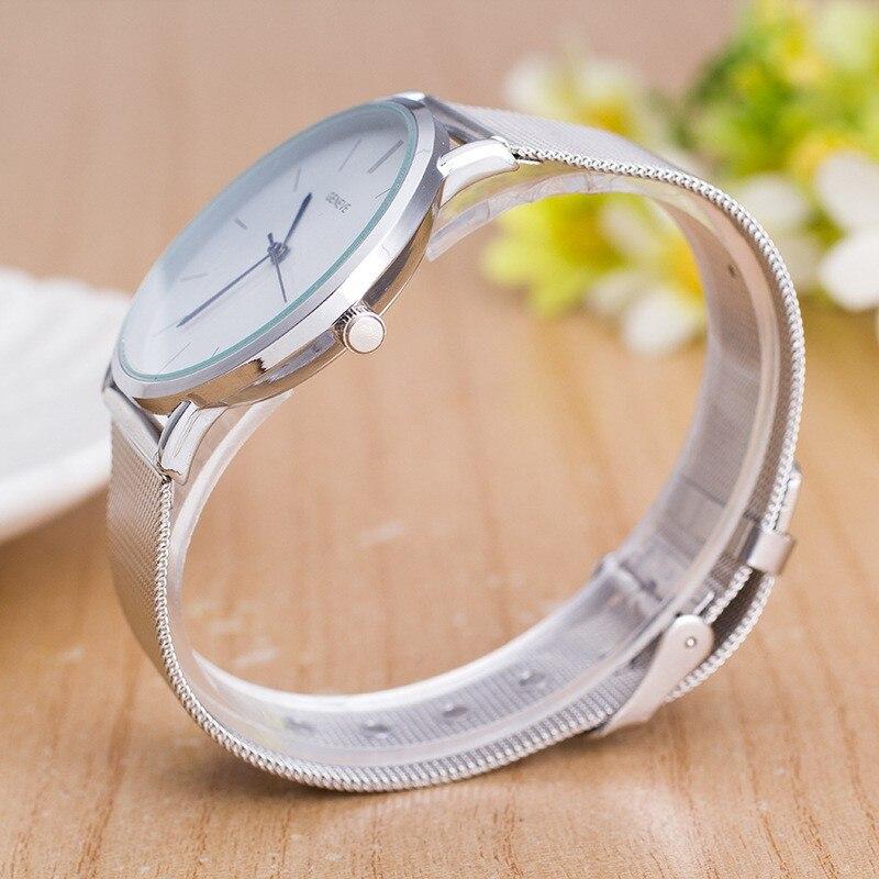 2017 nowa marka odzieżowa męski zegarek luksusowy srebrny pasek z - Zegarki damskie - Zdjęcie 6