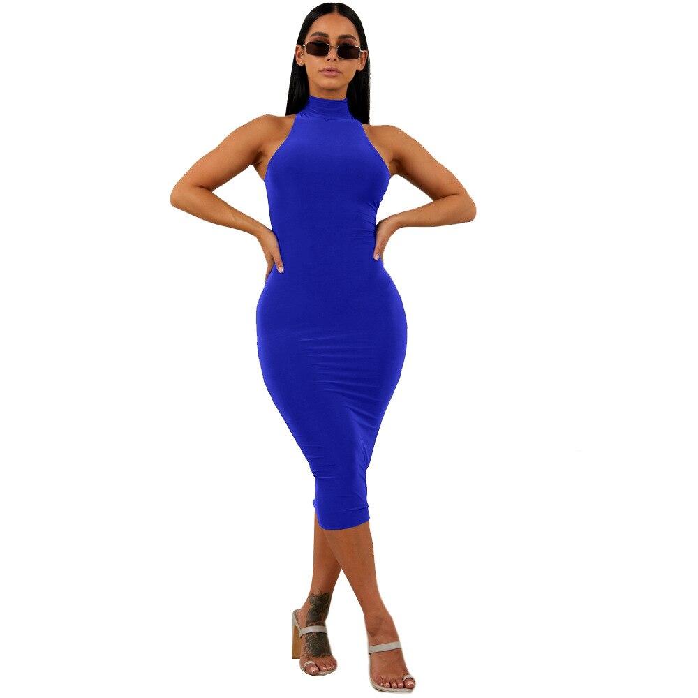 Women Bandage Dress 2018 New Arrivals Halter Bodycon Dress High Quality Bandage Rayon Dress