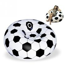 Unique Portable Outdoor Garden Inflatable Sofa Couch Soccer Football Shape  Self Bean Bag Chair Living Room