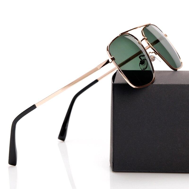 2018 novos óculos de sol polarizados óculos de aviação vintage ouro quadrado condução óculos de sol