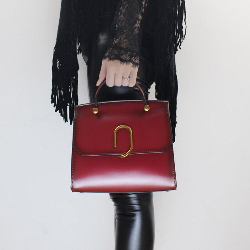 2018 New Original Design Retro Women Handbag Genuine Leather Female Messenger Bags Crossbody Cover Open Leisure Shoulder Bag стоимость