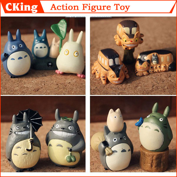 Fast/Free Shipping! 10PCS/LOT Anime MOVIE My Neighbor TOTORO Figures great for totoro fans or as a gift Home/House Decoration