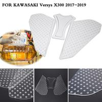 For Kawasaki Versys X300 X 300 Versys X X 300 Traction Pad Tank Protector Anti slip Sticker Non Slip Clear Decal 2017 2018 2019