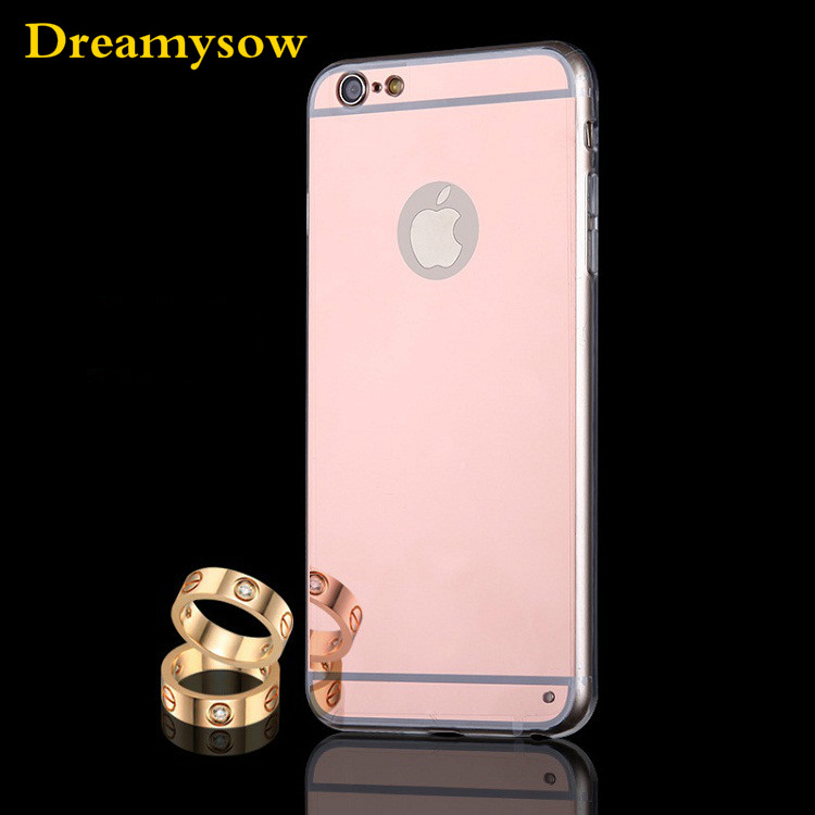 TPU Mirror Case Shell Back Cover Case For iphone X 7 8 Plus Luxury New Fashion Soft Back Cover For iPhone 6 6S Plus SE 5S 5 4S 4