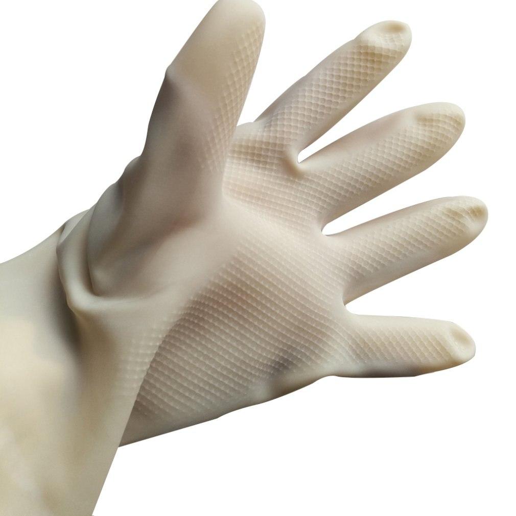 1 Paar Latex Industriellen Gummi Handschuhe Säure Alkali Beständig Anti-korrosion Arbeitsplatz Sicherheit Schutz Garten Handschuh StraßEnpreis