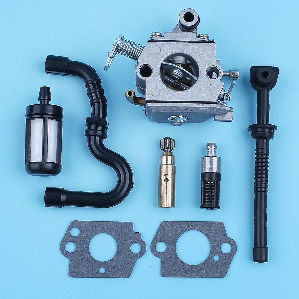 Carburetor Oil Pump Fuel Oil Line Filter For STIHL MS170 MS180 017 018 MS 170 180 Replace Zama C1Q-S57B W/ Carb Gaskets