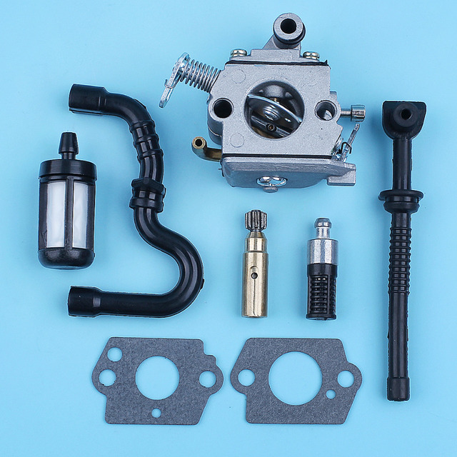 Carburetor Oil Pump Fuel Oil Line Filter For STIHL MS170 MS180 017 018 MS 170 180 Replace Zama C1Q S57B w/ Carb Gaskets