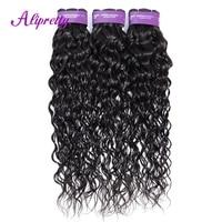 Alipretty волос волна воды 1/3/4 Комплект предложения человеческие волосы 100% ткань Комплект s Малайзии не Волосы remy расширение Природные Цвет 1B