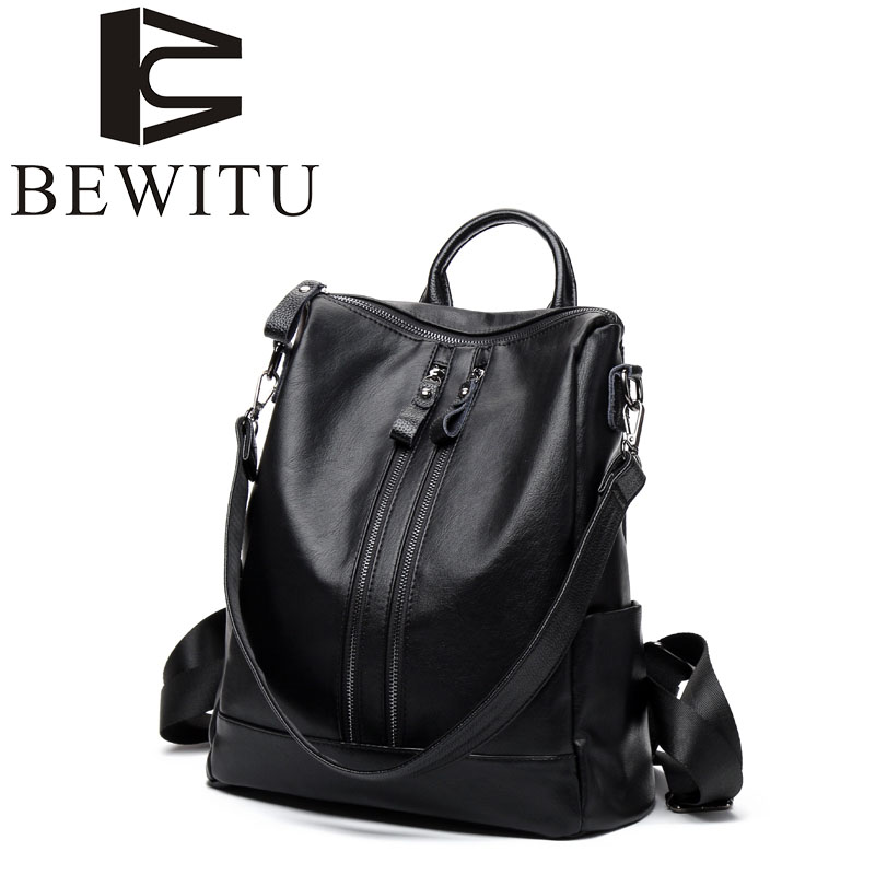 Fashion backpack women Japan and South Korea version of the wave of PU leather skin fashion wild new shoulder bag leisure travel japan and south korea in 2016 the new evening bag luxury sequins mesh ladies handbags fashion high grade magnetic buckle bag