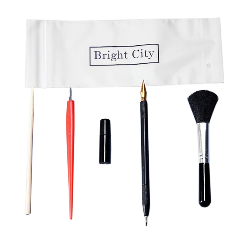 5Pcs Painting Drawing Scratch Arts Set With Stick Scraper Pen Black Brush For Scratch Sketch Art Papers Boards Tools DIY Gift