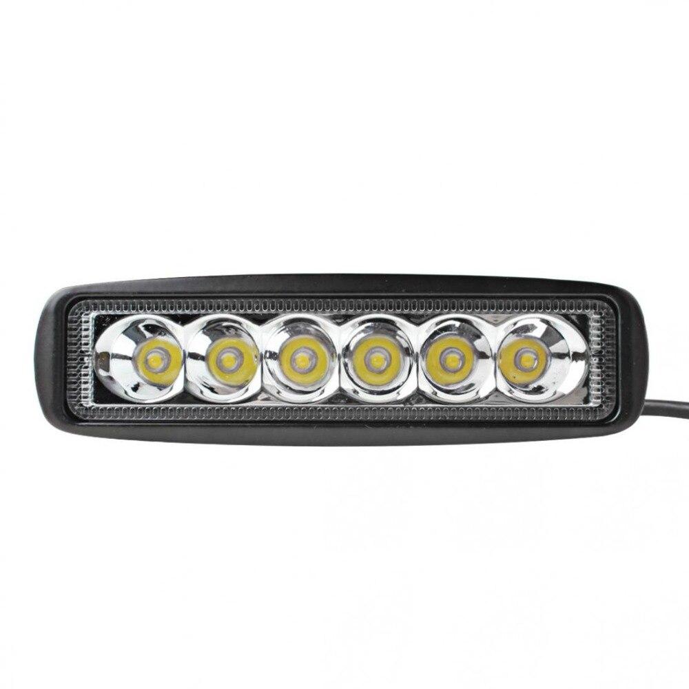 Dayanıklı Evrensel 1550LM 6 Inç 18 W 6000 K Araba LED İş Işık - Araba Farları - Fotoğraf 2