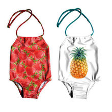 db27d64a06665 Baby Girls Strawberry Pineapple Print Backless Swimwear Swimsuit Kids  Bikini Bathing Suit Beachweear(China) · 2 Colors Available