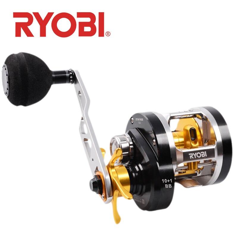 RYOBI VARIUS  fishing reels left/right handle slow Jigging wheels Trolling fishing wheel up to 12kg max drag full metal wheel