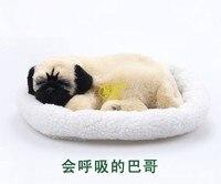 pampered petz mate breathing dog Pug Clubcute toy sleeping emulational mini lifelike lively visual vivid