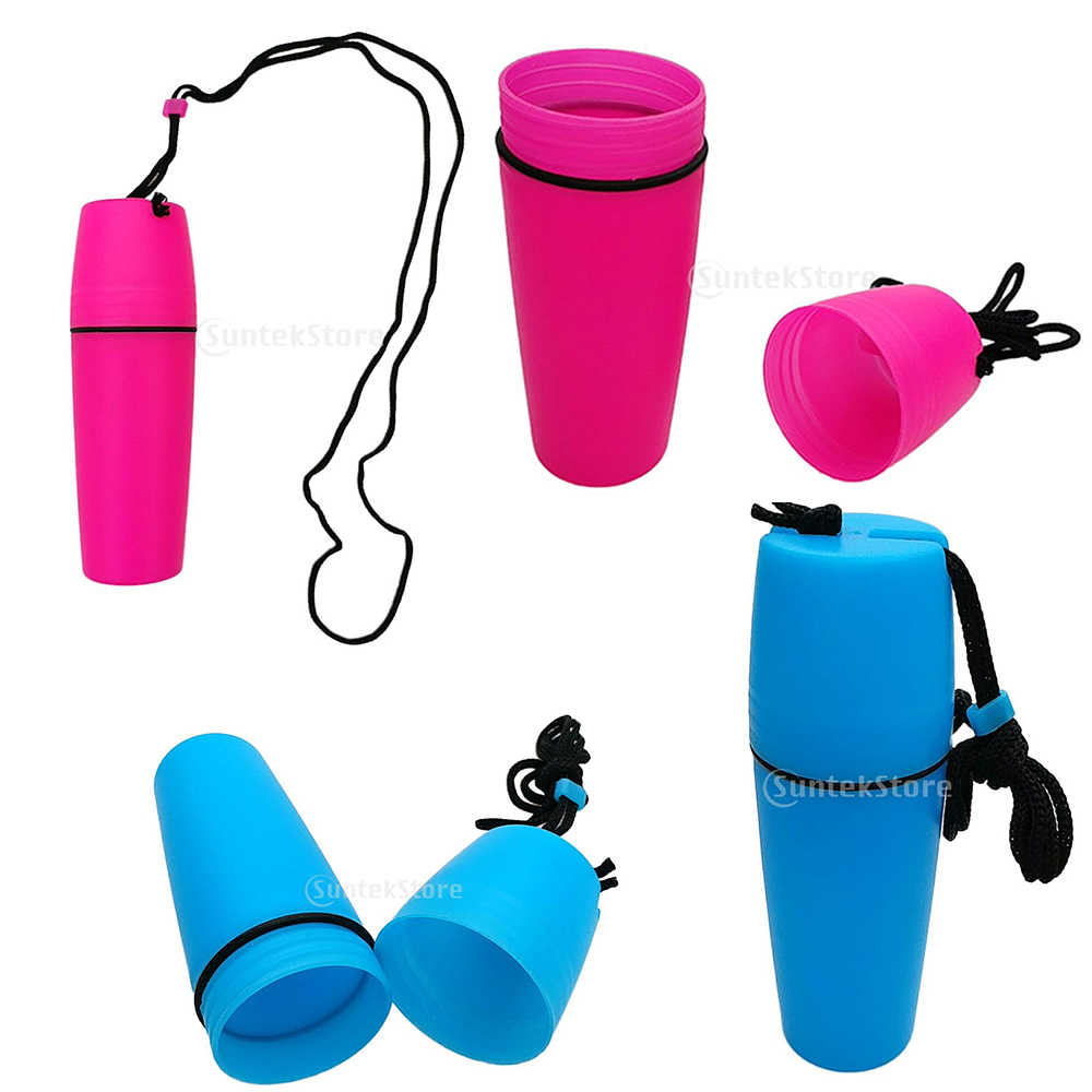 Portable Waterproof Dry Container Bottle with Hook Lanyard for Scuba Dive Kayak
