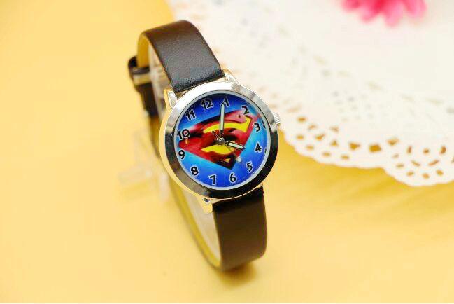 2016 Hot Sale Superman Cartoon Watch Casual Fashion Sports Quartz Watches Childrens Kids Wristwatch Clock Hour Relojes Relogio