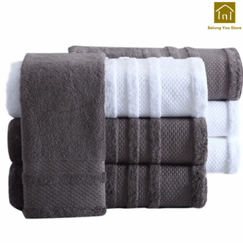 Large Adult White Hotel Cartoon Bath Towel Set Women Towels Men Toalha De Banho Adulto Dry Hair Cap Havlu Home Textiles WKZ026